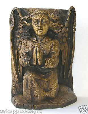 Angel Praying Ornament Reproduction Medieval Carving Hymne Prayer Cherub Gift