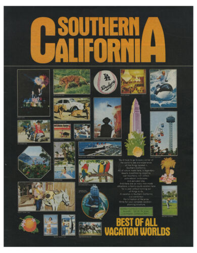 1971 Southern California Tourism - Best Of All Vacation Worlds vintage print ad