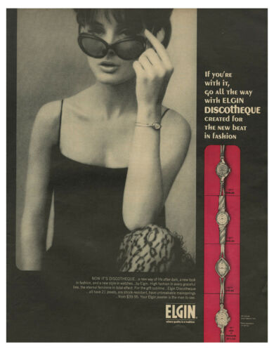 1965 ELGIN - Elgin Discotheque Created For The New Beat In Fashion vtg print ad