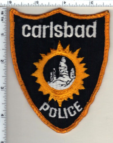 Carlsbad Police (New Mexico) Uniform Take-Off Shoulder Patch from 1989