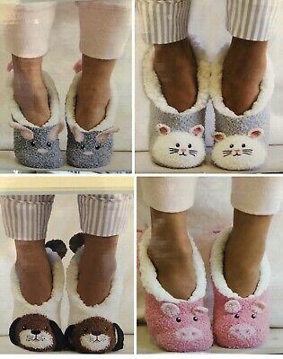 JANE and BLEECKER Slipper socks Critter Ballerinas 4 pairs size 2-8 bnwt