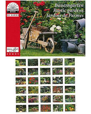 NEU! Postkartenbuch Bauerngärten / Blumen, Gärten, Romantik,  30 Postkarten NEU!
