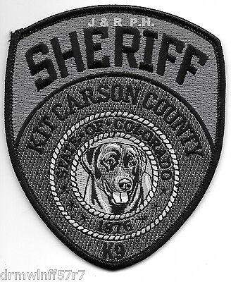 "Kit Carson Co. Sheriff K-9, CO (3.75"" x 4.5"")  shoulder police patch (fire)"