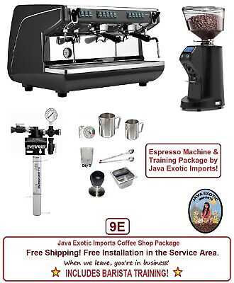 Simonelli Appia Life 2 Group Commercial Coffee Espresso Machine Package Training