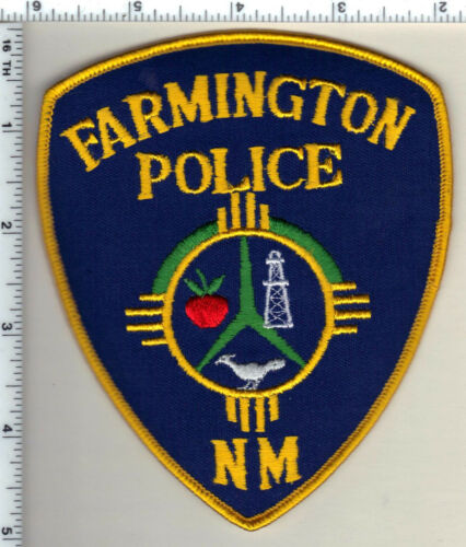 Farmington Police (New Mexico) Uniform Take-Off Shoulder Patch from 1989