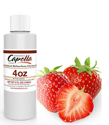 Capella Flavor Drops Sweet Strawberry 4 oz Concentrate smoothies water baking