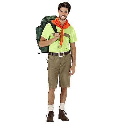 WIM 76071 Fasching Herren Kostüm Pfadfinder Boy Scout Abenteuer Rucksack Wildnis