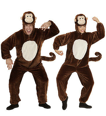 ADULT MONKEY COSTUME UNISEX BROWN FANCY DRESS DELUXE QUALITY SOFT PLUSH (Monkey Soft Kostüme)