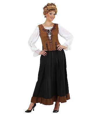 WIM 89571 Bäuerin Landsknecht Gutsherrin Bauer Fasching Karneval Damen Kostüm  - Land Bauer Kostüm