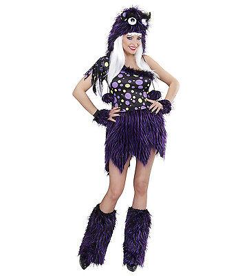 ANT 01731 Fasching Halloween Damen Kostüm Monster Luxus S M L Plüsch