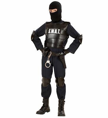 Faschingskostüm Jungen Kinder Polizei Kostüm S.W.A.T Agent Cop SWAT Polizist