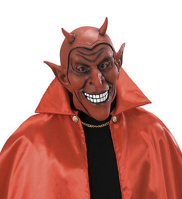 MASKE HALLOWEEN KARNEVAL KOSTÜM GRUSEL LUZIFER SATAN (Rote Maske, Halloween Kostüm)