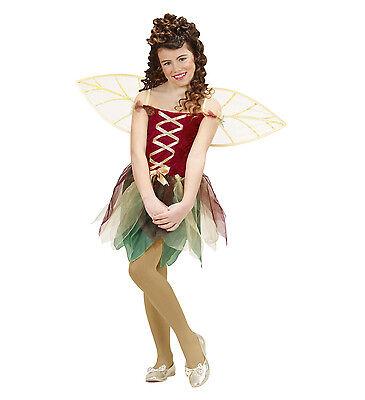 WIM 12996 Kinder Mädchen Kostüm Fee Magische Elfe Pixie Fantasy Wald 128-158 (Elf Mädchen Kostüme)