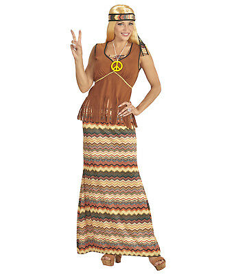 Fasching 70er Jahre Party Flower Power Kostüm Damen HIPPIE Gr. M