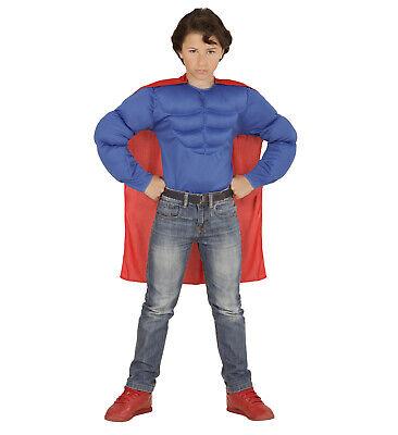 Super Muskel Held Umhang Muskelshirt Super Mann Superheld Supermuskelheld neu