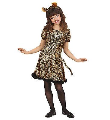 WIM 69046 Kinder Fasching Mädchen Kostüm Leopard Raubkatze Wildkatze Cat - Wilde Katze Kostüm Kinder