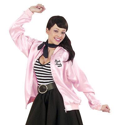50s Lady Jacke aus Satin Satinjacke pink rosa glänzend Kostümjacke Gr. M + XL ()