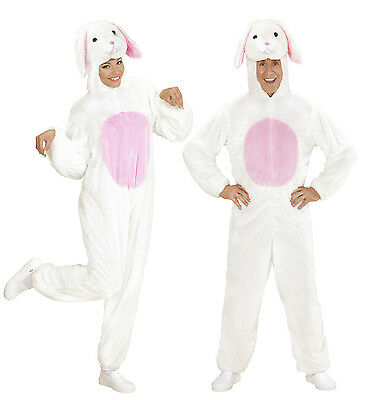 Bunny Deluxe White Kostüme (BUNNY RABBIT WHITE AND PINK EASTER PLUSH DELUXE QUALITY FANCY DRESS COSTUME)