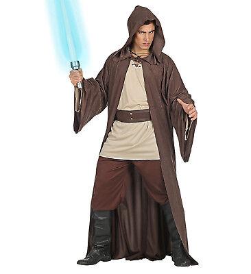 Mens Male Space Jedi Warrior Knight Adult Fancy Dress Costume Outfit M To (Jedi Knight Fancy Dress Kostüm)