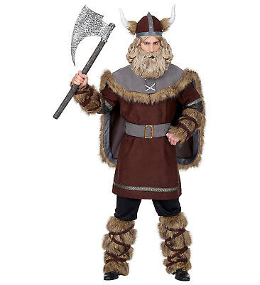 Mens Male Viking Saxon Warrior Adult Fancy Dress Costume Outfit S To XL - Male Warrior Costume