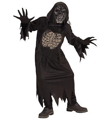 DÄMON Zombie Skelett Kostüm Kinder, Horror, Halloween Robe, - Skelett Halloween Kostüm Kind
