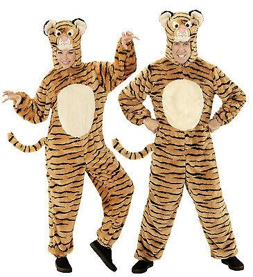 WIM 97139 Unisex Kostüm Tiger Soft Plüsch Katze Fasching Karneval Damen - Plüsch Tiger Kostüm