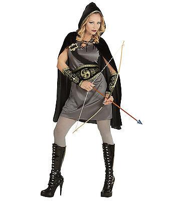 Bogen Kostüme (WIM 98781 Fasching Karneval Damen Kostüm Bogenschütze Pfeil Bogen Mittelalter)