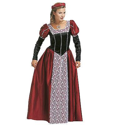 WIM 35481 Fasching Karneval Damen Kostüm Burgfräulein Burg Herrin Königin Magd