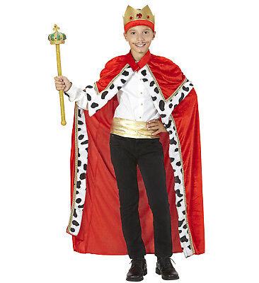 WIM 08666 Fasching Halloween Kinder Kostüm König Biblischer Umhang Mantel Cape - Biblische Kostüm