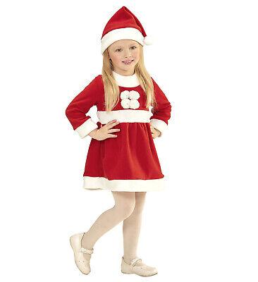 Baby Weihnachtsmann für Mädchen Kleid Mütze Weihnachtsmannkostüm Gr. 98 neu (Weihnachts-kostüm Für Mädchen)
