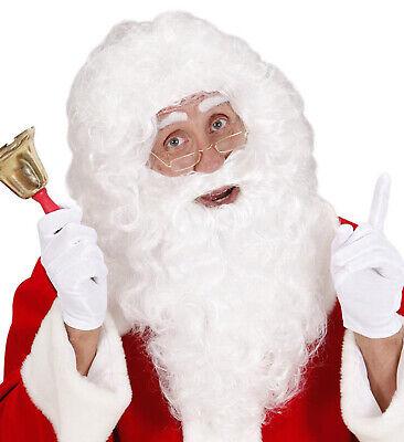 Nikolaus Weihnachtsmann Bart und Perücke im Set