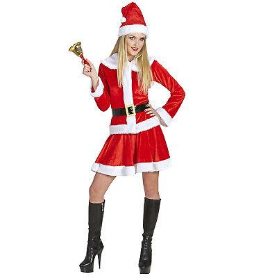 Miss Weihnachtsmann Oberteil Rock Gürtel Mütze Weihnachten Damenkostüm - Rock Mann Kostüm