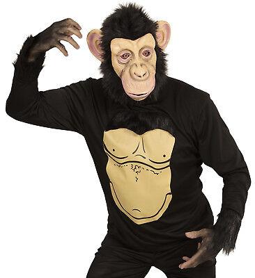 WIM 74566 Affe Schimpanse Tierkostüm Fasching Karneval Halloween Herren Kostüm