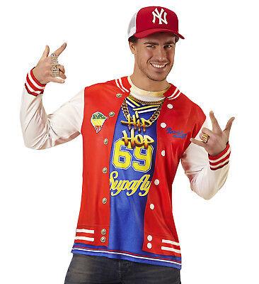 HIP HOP FANCY DRESS PHOTO REALISTIC T SHIRT 90's RAPPER ADULT MALE - Hip Hop Kostüm T Shirts