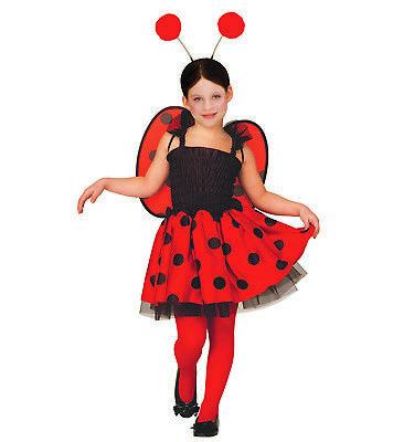 ANT 3471M Käfer Marienkäfer Glückskäfer Lady Bug Insekt Kinder Mädchen Kostüm