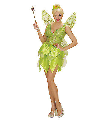 WIM 02291 Karneval Damen Kostüm Fee Fantasy Fairy Grüne Pixi Fee Elfe ()