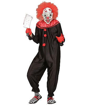 Wim 01621 Fasching Halloween Herren Kostüm Clown Horror Killer Clown Hofnarr (Hofnarr Kostüm Halloween)