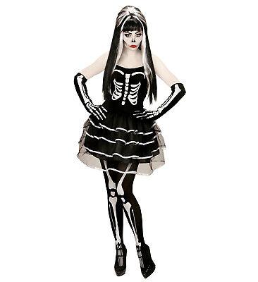 WIM 73541 Fasching Damen Kostüm Skelett Frau Skeleton Woman Zombie Bones  ()
