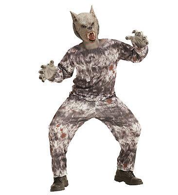 Werwolf Kostüm Verkleidung Jacke Hose Maske Wolf Karneval Größe 158 11-13 years ()