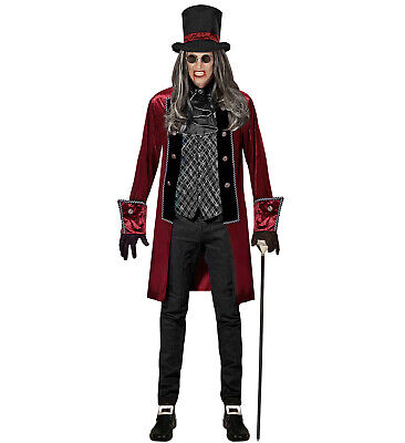Viktorianischer Vampir Gr. M Jacke mit Weste Jabot Handschuhe Hut Kostüm Horror