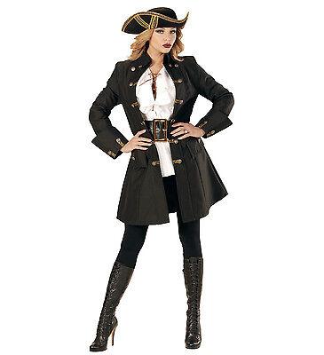 ANT 07161 Fasching Karneval Damen Kostüm Piraten Mantel Pirate Coat Mittelalter