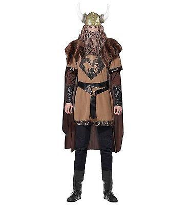 WIM 07691 Fasching Karneval Herren Kostüm Wikinger Viking Mittelalter Nordmann