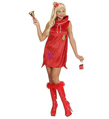 WIM 75991 Weihnachtsfrau Damen Kostüm Weihnachten Girl Sack Geschenk - Weihnachts Geschenk Kostüm