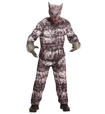 Werwolf Kostüm Verkleidung Jacke Hose Maske Wolf Karneval Halloween Größe XL (Wolf Halloween-kostüm)