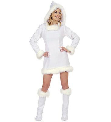 dchen Girl Schnee Frau Eis Arktis  Fasching Damen Kostüm  (Eskimo Frau Kostüm)