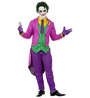 WIM 08021 Mad Joker Harlekin Comic Bösewicht Fasching Halloween Herren Kostüm (Comic Bösewichte Kostüm)