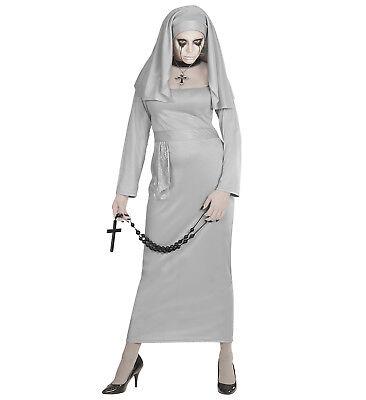 alloween Damen Kostüm Geister Nonne Gothic Ghost Nun Church (Nonne Kostüm Geist, Halloween)