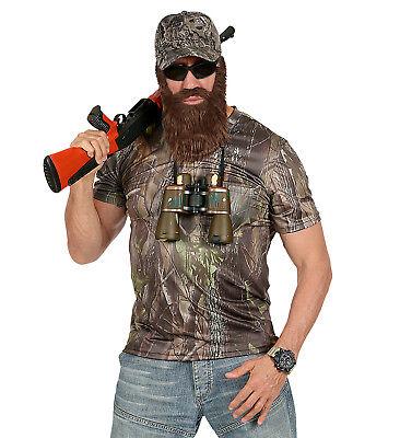 WIM 96553 Jäger Hunter Shirt T-Shirt Jagd Fasching Karneval Herren Kostüm Safari
