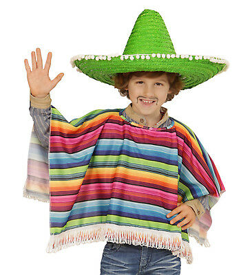 Accesorios Disfraz Carnaval Infantil Poncho Mexicana Ps 24882
