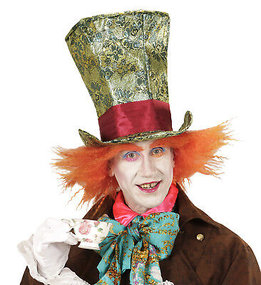 Mad Hatter Crazy (DELUXE CRAZY MAD HATTER  HAT WITH HAIR FANCY DRESS ACCESSORY PLUSH NOVELTY FUN)
